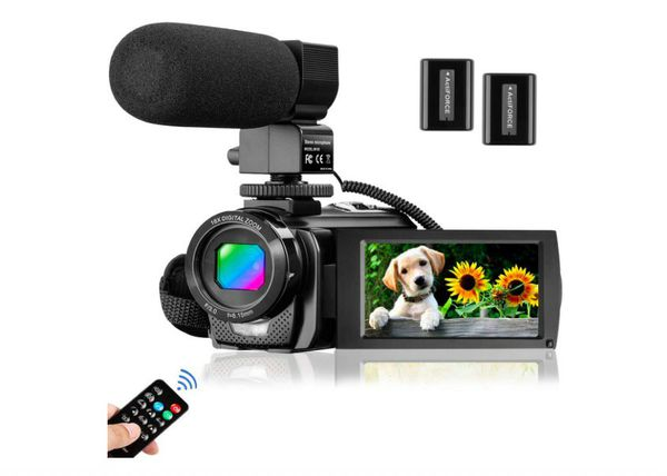 Video Camera Camcorder for YouTube, Aasonida Digital Vlogging Camera FHD 1080P 30FPS 24MP 16X Digital Zoom 3.0 Inch 270° Rotation Screen 2 Batteries