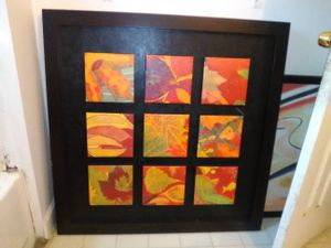2 bar chairs, mirror, abstract work for Sale in Gambrills, MD