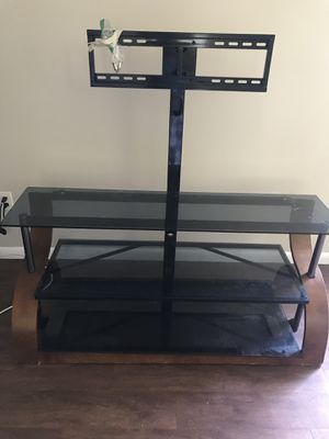 Glass TV Stand Wood/ Metal for Sale in Barnegat, NJ