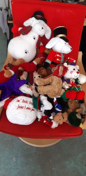 Christman teddy bears and other stuffed holiday animals for Sale in Oceanside, CA