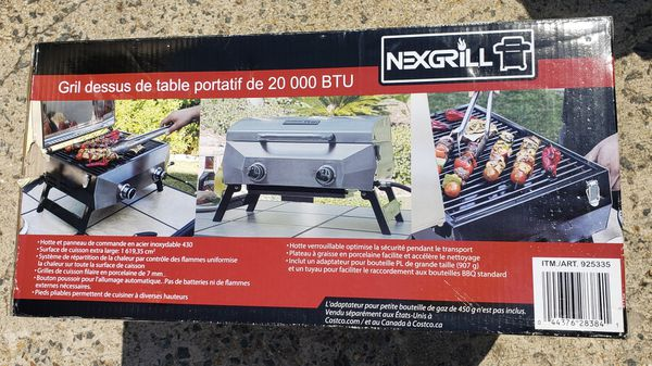 Nexgrill Portable Stainless Steel Gas Grill, NEW