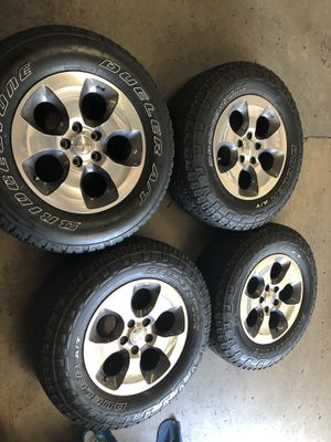 Selling my Jeep Wrangler stock wheels for Sale in Montclair, CA