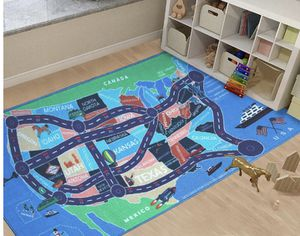 "NEW! 2018 Kids Rug Area Play Mat Car Carpet with Road 4' 11"" X 2' 7"" Map of USA--High Definition(HD) with Non-Slip Backing Nontoxic for Playroom Bedr for Sale in Stuart, FL"