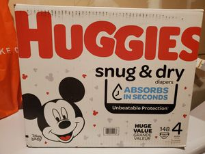Huggies Snug & Dry Diapers Size 4. Two packes available for Sale in Renton, WA