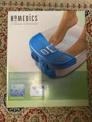 Homedics BubbleBliss Delux Foot Spa with heat for Sale in Ithaca, NY