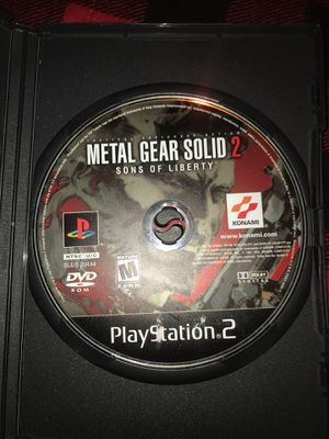 Ps2 Metal Gear solid 2 sons of liberty for Sale in Landover, MD