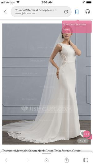 Mermaid lace wedding dress size 4 for Sale in Fort Lauderdale, FL