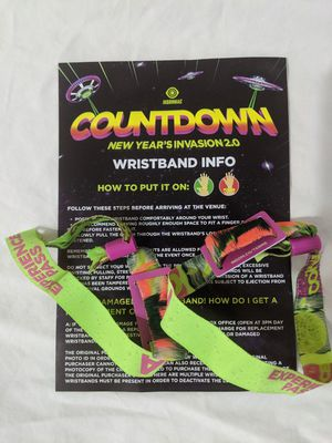 2 Countdown NYE GA wristband for Sale in Victorville, CA