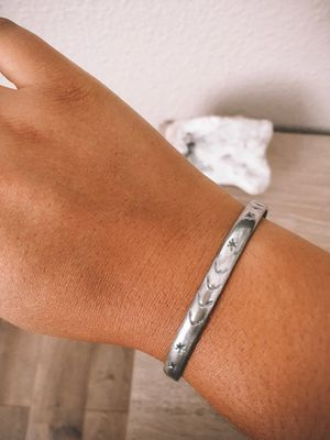 STERLING SILVER MOON AND STARS BANGLE for Sale in Temecula, CA