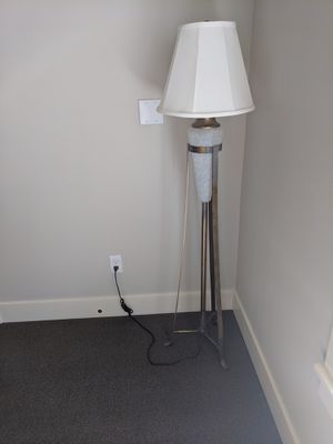 Glass and metal designer floor Lamp for Sale in Portland, OR