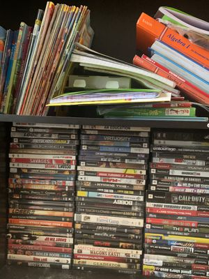 Good selection of dvds and PlayStation 2 games about 100 altogether for Sale in Prosser, WA