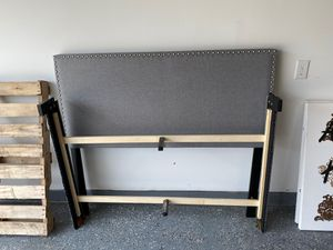 Grey Full Bed Frame for Sale in Houston, TX