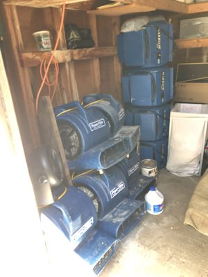 Working!! 9 blower fan blow up house carpet floor air mover price is for all or $120 each for Sale in Portland, OR