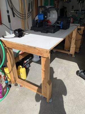 Workshop Table / Table Saw Outfeed Table / Multipurpose Leveling Table for Sale in Maple Valley, WA