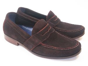 COLE HAAN Men's Shoes Brown Suede Penny Loafers 8M Msrp $150 for Sale in Hayward, CA