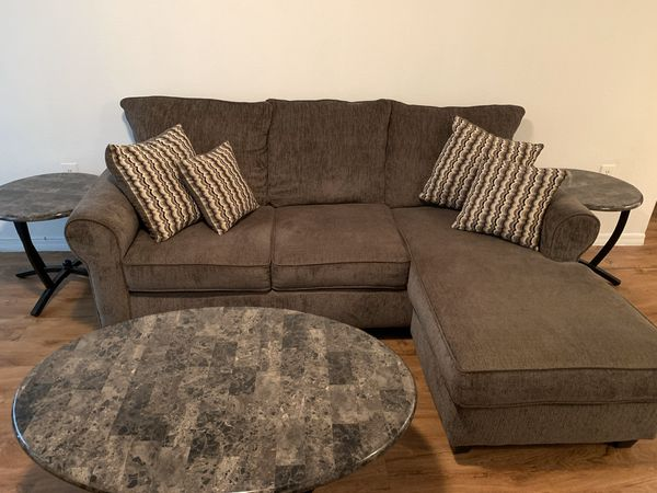UPDATED! Negotiable pricing! Couch with coffee and end tables