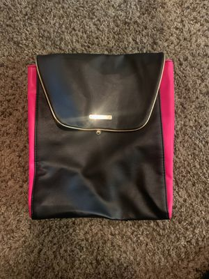 Juicy Couture Women's Expandable Faux Leather Back Pack Tote Bag Black/Pink for Sale in Scottsdale, AZ