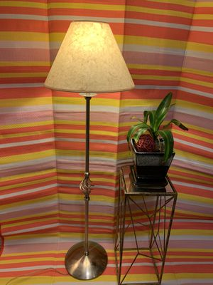 Stainless steel floor lamp for Sale in Raleigh, NC