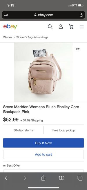 Steve Madden Womens Blush Bbailey Core Backpack Pink for Sale in San Diego, CA