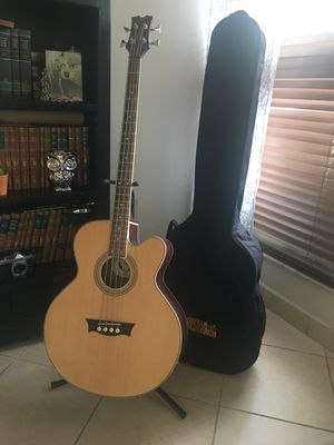 Acoustic-Electric Bass Guitar with case. Only a couple of months old. for Sale in Miami, FL