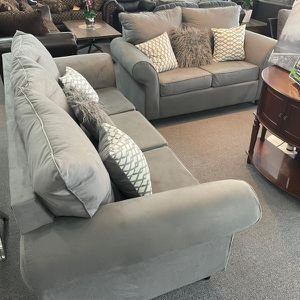 Sofa & Loveseat Elegance Fabric With Pillows for Sale in Lilburn, GA