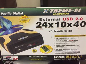 Pacific Digital External USB 2.0 CD-RW Drive for Sale in Irving, TX