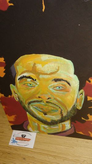 Brand new original Weeknd rapper singer rnb art work painting signed original artist for Sale in Columbus, OH