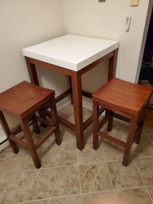 Breakfast Table with 2 stools for Sale in Clifton, NJ