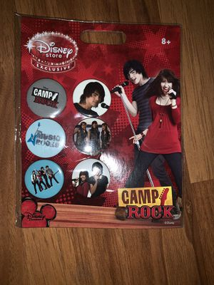 6 Camp Rock Collector Pins Disney Exclusive from the Disney Store Buttons for Sale in Las Vegas, NV