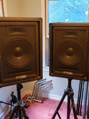 Audio choice AC12T SPEAKERS 🔊 WITH STANDS. for Sale in Valley Stream, NY