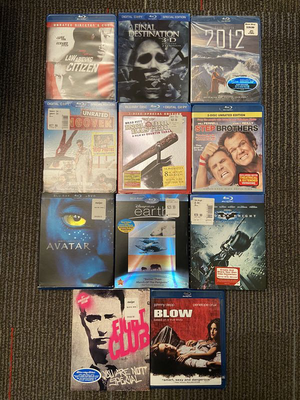 11- Blu Ray DVD's Fight Club, Blow, Dark Knight, Earth, Step Brothers, Avatar, Hangover, Inglorious Bastards etc for Sale in Naperville, IL