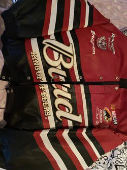 Champion Eanthart Budweiser Leather Jacket for Sale in Guthrie,  OK