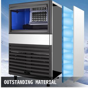 110v Commercial Ice Maker machine 100lbs/24h With 45lbs Storage Capacity Stainless Steel for Sale in Los Angeles, CA