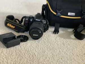 Nikon D3000 DSLR camera with charger, usb cable and bag for Sale in Mechanicsville, VA