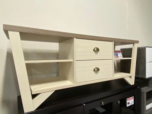 Grace TV Stand for TVs up to 70, Dark Taupe and Ivory for Sale in Norwalk, CA