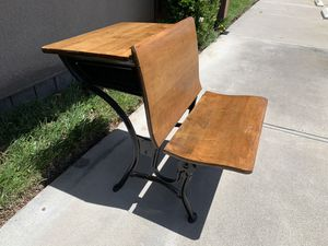 American Seating(A.S.) Co. Iron/Wood Folding Antique Americana School Desk #2 - OBO for Sale in San Diego, CA
