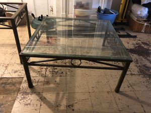Large square metal and glass tables for Sale in Baltimore, MD
