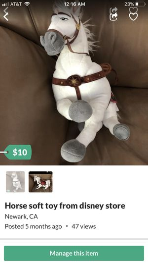 Horse soft toy from disney store for Sale in Fremont, CA