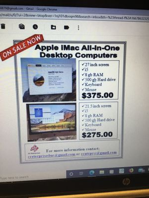 Apple I-Mac All-In-One Desktop Computers for Sale in Landover, MD