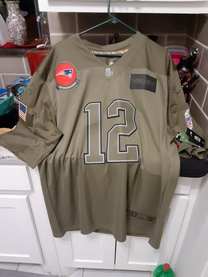 "New England Patriots Tom Brady ""Salute to Service"" Limited Edition On Field Jersey for Sale in Fort Worth, TX"