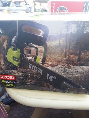 Gas powered chain saw Ryobi 14 inch for Sale in Miami, FL