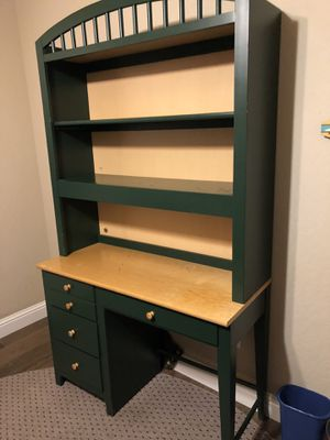 Desk with bookshelves and light for Sale in Visalia, CA