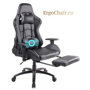 Brand New! Gaming Chair with Massage, Soft Headrest & Footrest for Sale in Auburn, WA