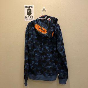Bape shark hoodie camo blue (fits like medium/large) for Sale in San Fernando, CA