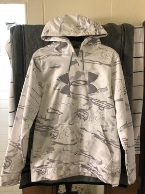 Under Armour White and gray camouflage hoodie for Sale in Delaware, OH