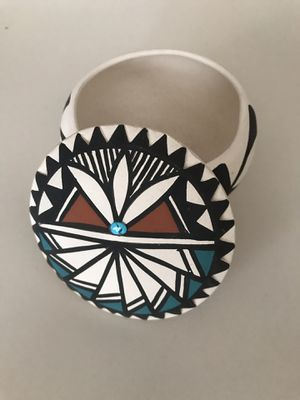 Southwestern Pottery Bowl with Lid for Sale in Henderson, NV