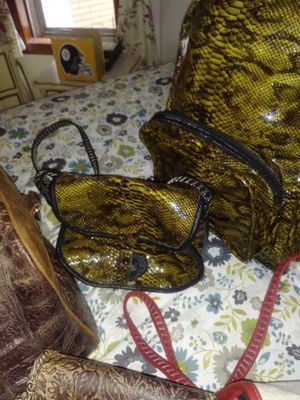 Amazing parcel of leather, gator and python custom, homemade and handstitched bags! Better than Coach and LV. for Sale in Pittsburgh, PA