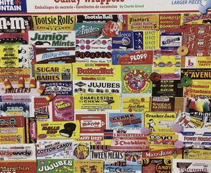 White Mountain Candy Wrappers 1000 piece jigsaw puzzle for Sale in Cicero,  IL