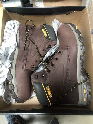 DEWALT Men's Halogen 6'' Work Boots - Steel Toe - Brown Crazy Horse Size 12(M) for Sale in Rosemead, CA