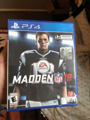 MADDEN 18 PS4 for Sale in Houston, TX